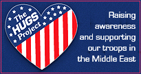 Hugs Projecct supporting our military in the Middle East